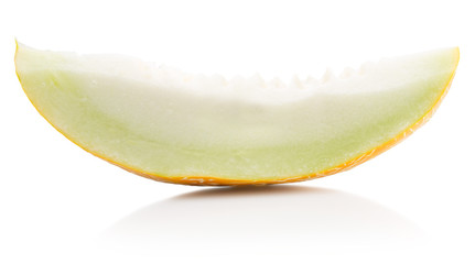 melon slice isolated on the white background