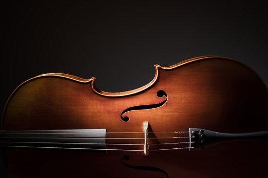 Cello silhouette