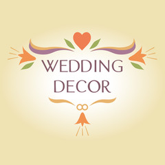 Organization of weddings, decor, floral, interior decoration col