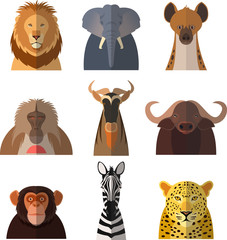 Icons of african animals2