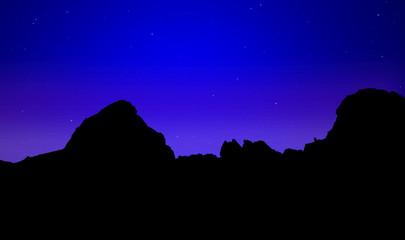 dawn over the mountain peak