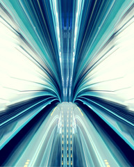 Abstract high-speed technology concept image from the tokyo automated transit