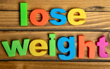 Colorful lose weight word