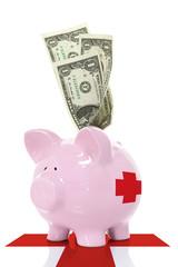 Medical savings piggy bank