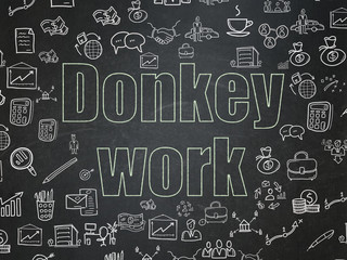 Finance concept: Donkey Work on School Board background