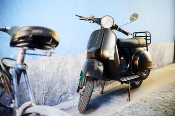 Fotorolgordijn Scooter moto e motori scooter