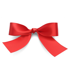 Red bow. Vector illustration on white background.