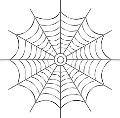vector illustration of a spiderweb
