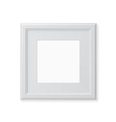 Photo frame on white background. Vector illustration