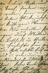 Antique handwriting letter. Grunge paper background