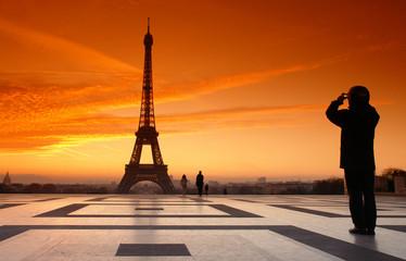 tour Eiffel prise en photo