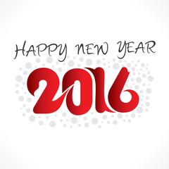 creative happy new year 2016 banner design vector