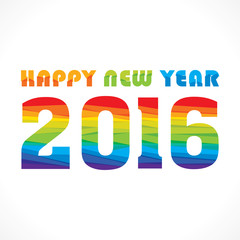 creative colorful random paper strip design new year 2016 greeting vector