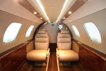 Small business jet cabin Rear