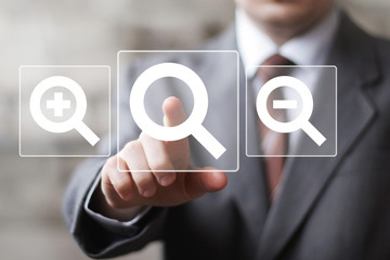 Search magnifier sign business online communication icon