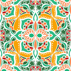 Photo sur Plexiglas Tuiles Marocaines Seamless Floral Pattern