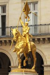Golden statue Joan of Arc