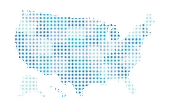 USA Map - blue