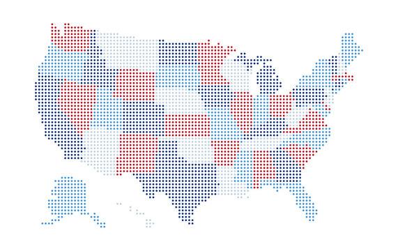 USA Map - colorful