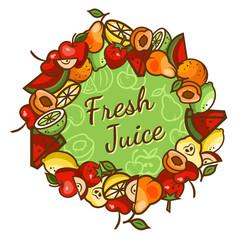 fresh juice emblem