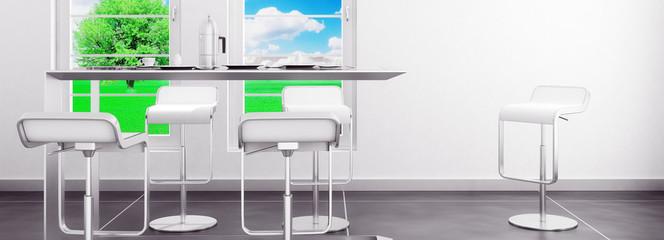 Esstisch mit Stühlen (panoramisch)