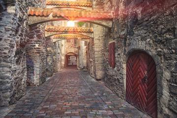 St. Catherine's Passage in Tallinn, Estonia