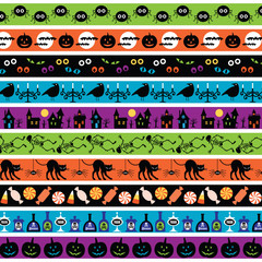 bright halloween border patterns