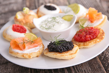 canape,buffet food