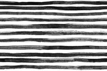 Black White ink abstract horizontal stripes seamless  background