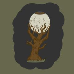 Halloween Tree. vector illustration