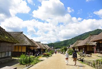 大内宿/Ouchi inn Japan's old town in Fukushima.