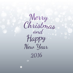 Xmas snowing background with Holidays message