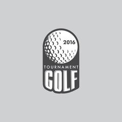 Retro Vintage Hipster Golft Vector Logo.