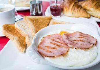 wonderful Breakfast-Prepared Egg and ham