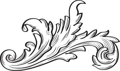 Acanthus scroll fine leaf