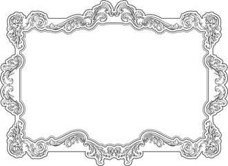 Baroque retro frame