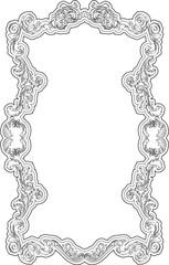 Baroque retro swirl page