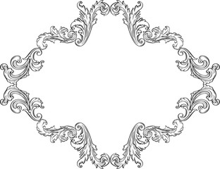 Curly nice ornement art frame