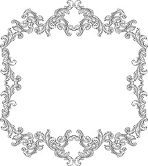 Curly art ornement frame