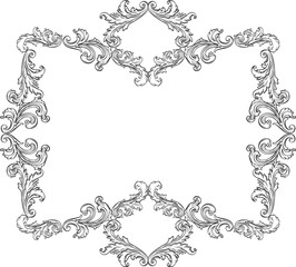 Curly ornement frame