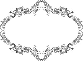 The curly ornement art frame