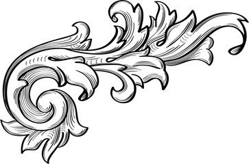 The fine acanthus pattern