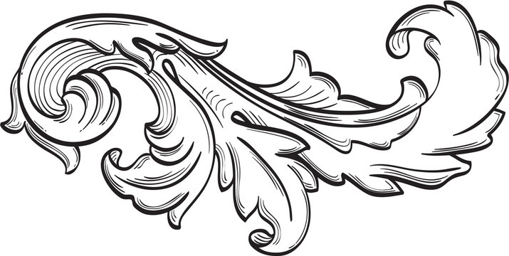 The acanthus scroll nice leaf