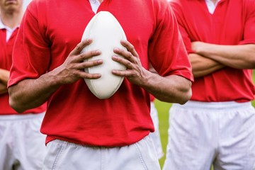 Tough rugby players ready to play