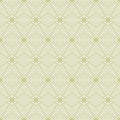 Vector seamless texture. Geometric abstract background. Openwork asterisk inscribed in a hexagon.