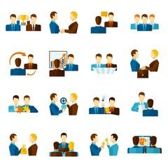 Partnership Flat Icons Set