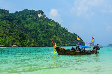Long tail boat on Andaman sea