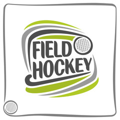 Abstract image on the field hockey theme