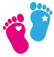 Baby Zwillinge Fußspuren