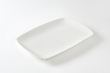 Rectangle white porcelain plate